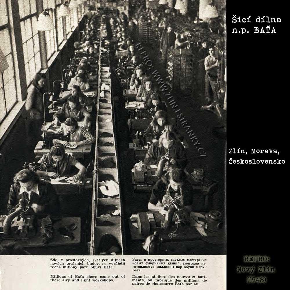 n.p. Baťa - konfekční dílna v r. 194819