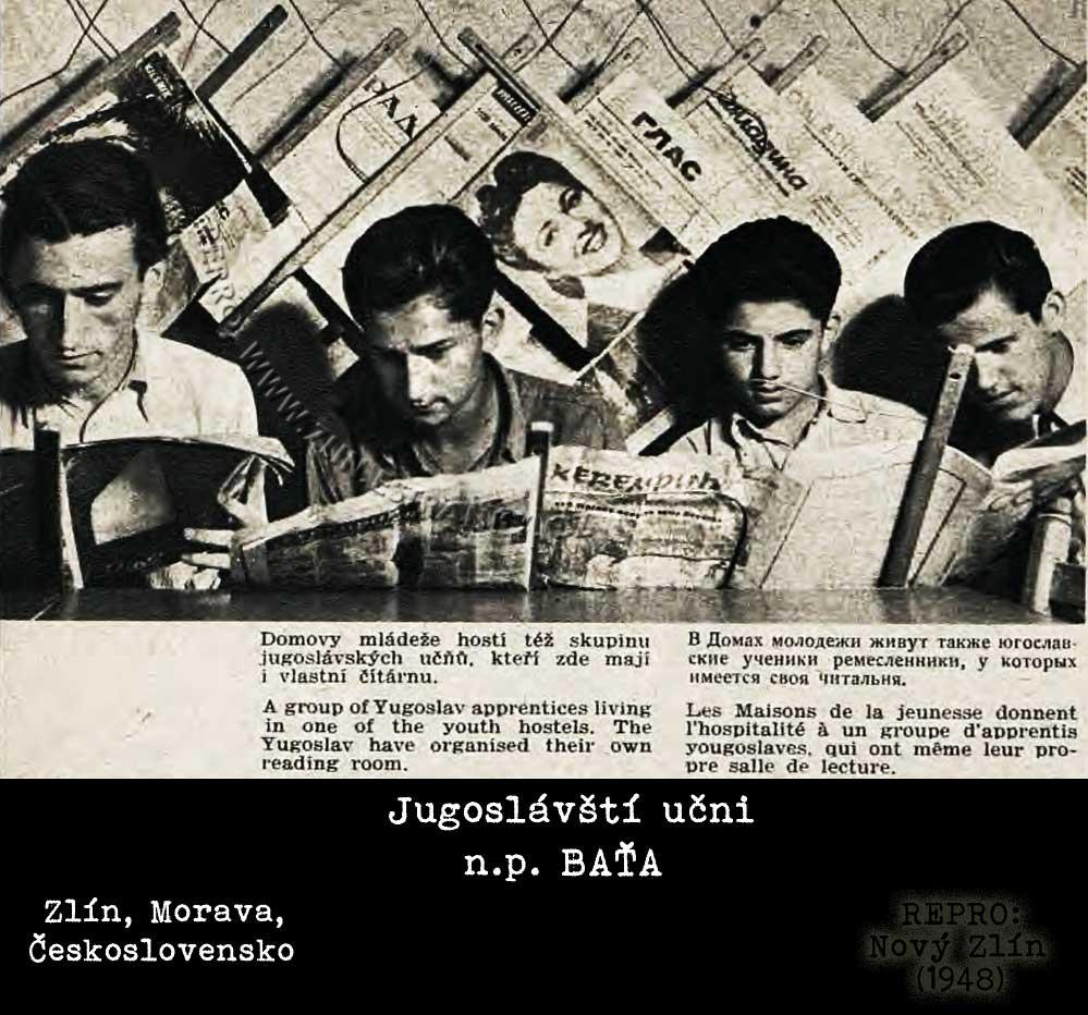 Jugoslávští učni n.p. Baťa (1947)