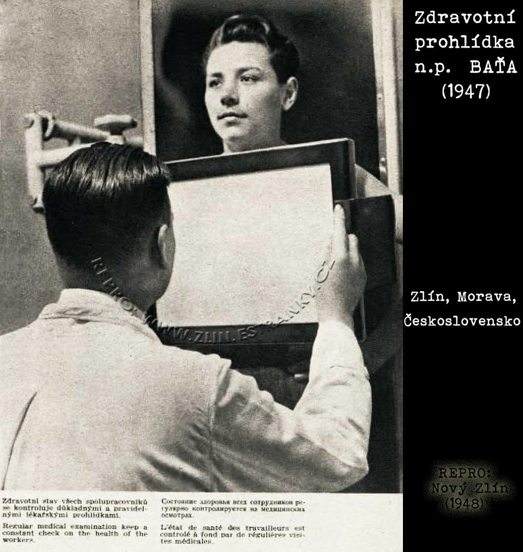 Lékařská prohlídka v n.p. Baťa (1947)