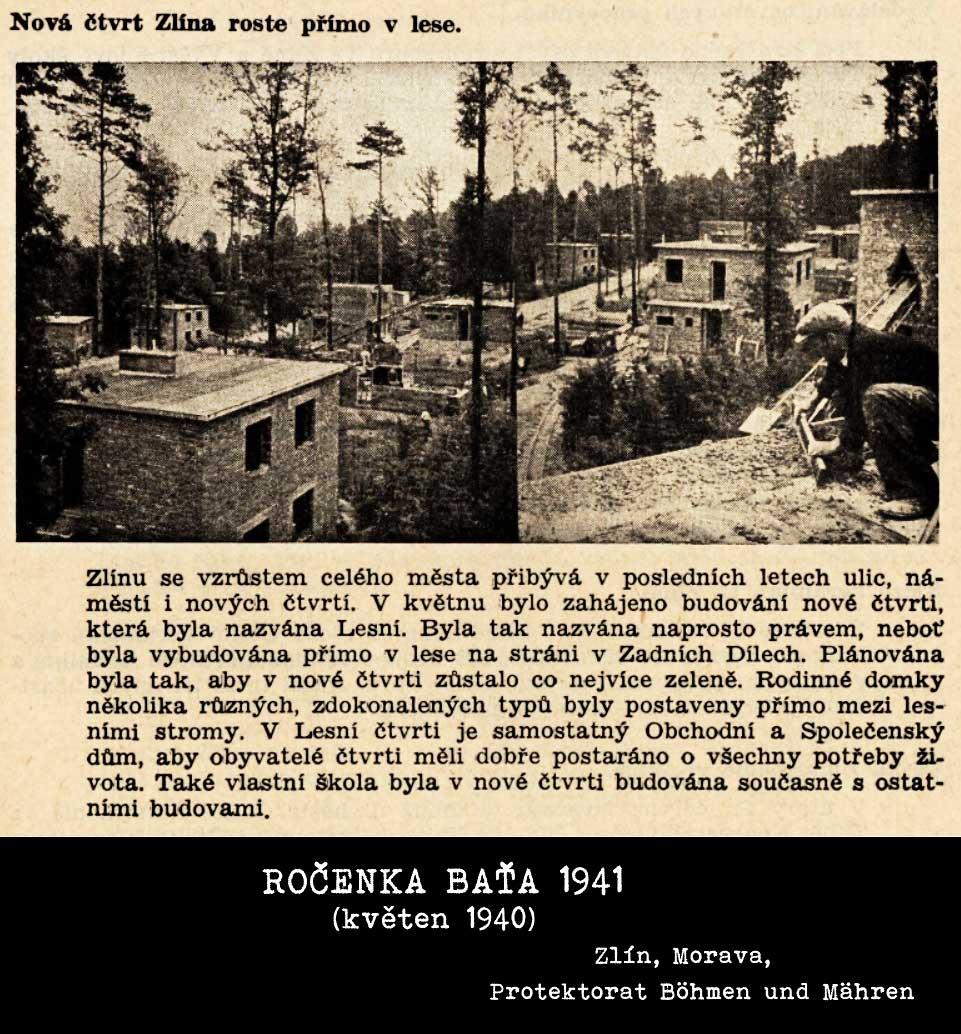 Lesní čtvrť - výstavba v květnu 1940