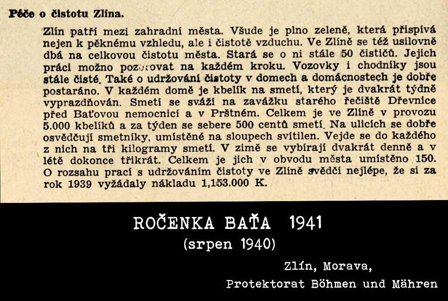 Odpadové hospodářství v roce 1940